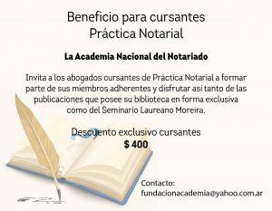 Beneficio para cursantes – Práctica Notarial