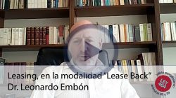"Leasing, en la modalidad ""Lease Back"""