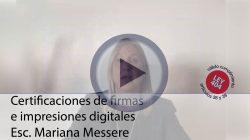 Certificación de firmas e impresiones digitales