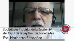 Sociedades incluidas de la Sección IV del Cap. I de la Ley Gral. de Sociedades