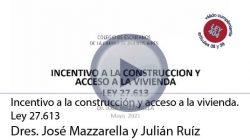 Incentivo a la construcción y acceso a la vivienda. Ley 27.613