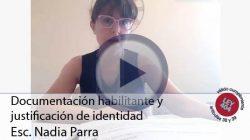 Documentación habilitante y justificación de identidad